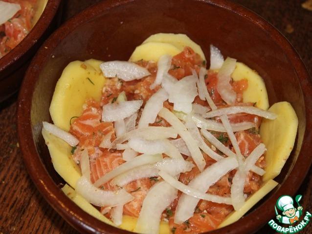 Сёмга в горшочке в духовке рецепт