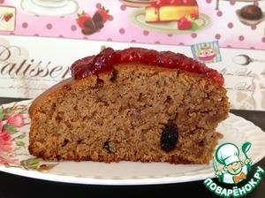Рецепт Медово-ореховая коврижка с изюмом постная