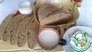 Рецепт Хлебушек с цельнозерновой пшеничной мукой крупного помола и кукурузной крупой на закваске