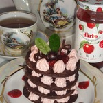 """""""Шоколадно-творожный десерт с вишневым низкокалорийным конфитюром d'arbo"""" для тех, кто следит за фигурой"""