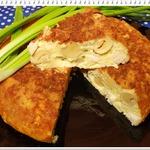 Сырная запеканка с шампиньонами и копченой курицей