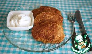 Рецепт Оладьи из кабачковой икры с ржаной мукой