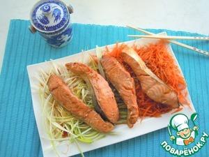 Рецепт Лосось на пару в азиатском стиле