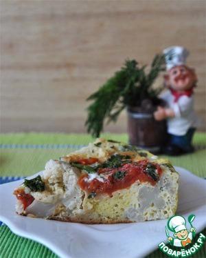 Рецепт Пикантная запеканка с цветной капустой