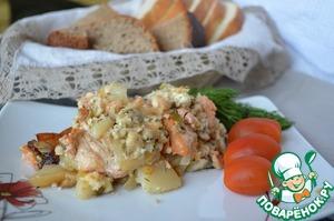 Рецепт Запеканка поморская из рыбы с творогом