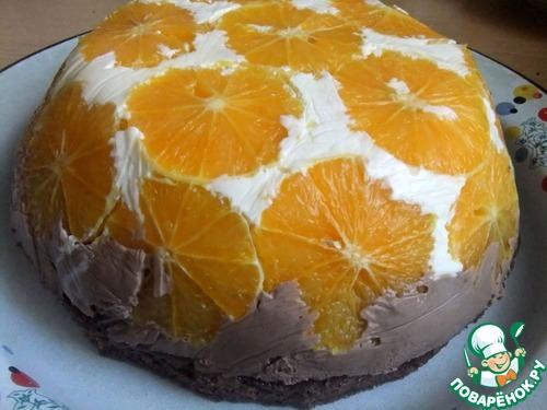 """Торт """" Апельсиновый купол"""""""