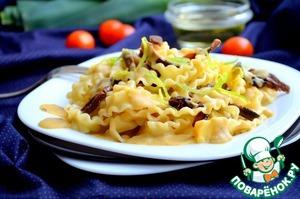 Рецепт Паста с грибами с чечевично-луковым соусом