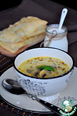 Рецепт Грибной суп и пирожки с мясом
