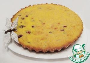 Рецепт Кекс на сыворотке из кукурузной крупы с вишней