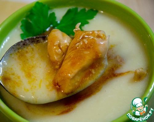Суп-пюре с тушеной курицей – кулинарный рецепт
