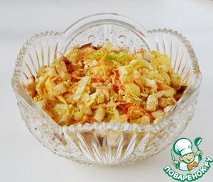 Рецепт Салат из пекинской капусты с чесночными сухариками