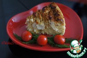 Рецепт Запеканка из цветной капусты с курицей