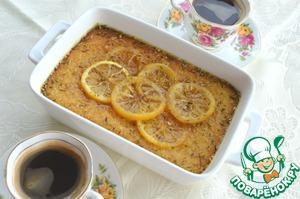 Рецепт Апельсиновый манник с лимонно-розмариновым сиропом