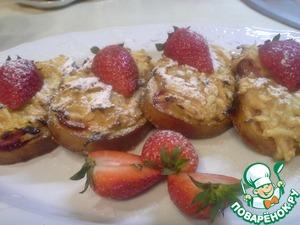 Рецепт Гренки с яблоками и клубникой