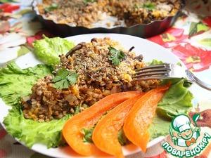 Рецепт Гречневый пирог с чечевицей и грибами