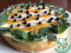 Рецепт Творожная запеканка с манго и грушей