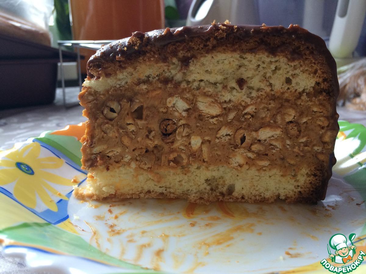 Торт сникерс рецепт с безе фото в домашних условиях