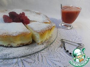 Рецепт Чизкейк Мазлтов с клубнично-малиновым соусом