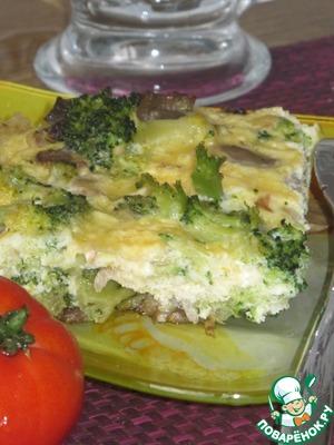 Рецепт Запеканка с брокколи и шампиньонами