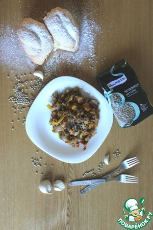 "Рецепт ""Княка""-тушеные овощи с чечевицей"