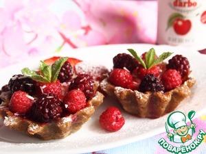 Рецепт Овсяно-банановые корзиночки с ягодами
