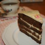 """Шоколадно-ванильный торт """"Пост в сладость"""""""