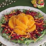 """Салат с кус-кусом, свеклой, морковью и апельсинами """"Нарядный"""""""