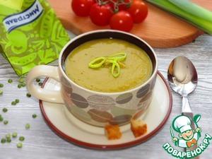 Рецепт Постный суп-пюре из зеленого гороха