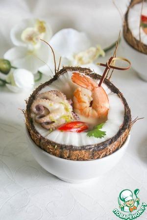 Рецепт Кокосовый суп с креветками по тайским мотивам