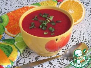 """Рецепт Суп-пюре фруктово-овощной """"Вдохновение"""""""