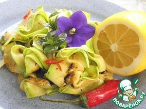 Рецепт Салат из кабачков с мятой