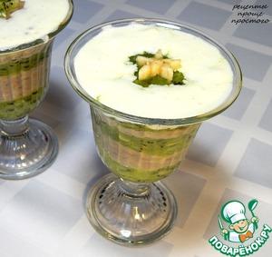 Рецепт Смузи из киви и банана с ванильным мороженым