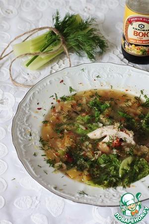 Рецепт Греческий куриный суп с лимоном