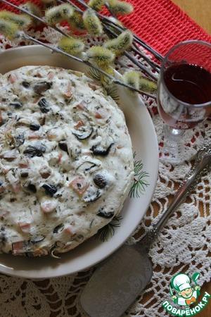 Рецепт Запеканка с белыми грибами и ветчиной