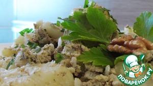 Рецепт Картофель отварной с орехами
