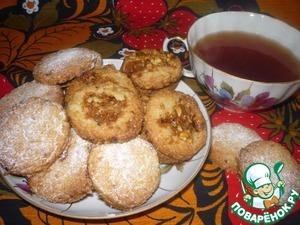 Рецепт Лимонное печенье с грильяжем (постное)