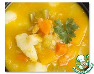 Рецепт Крем-суп из тыквы с куриными кнедликами