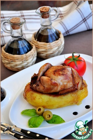 Рецепт Молодой картофель, фаршированный перепелами