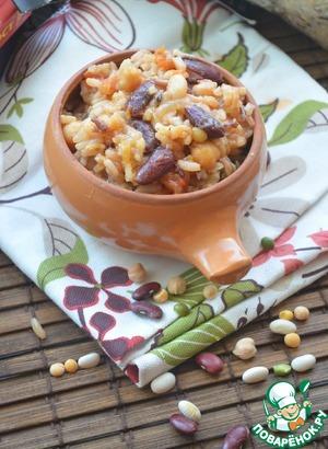 Рецепт Бобовая смесь с морепродуктами