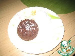 Рецепт Шоколадный кекс с жидкой начинкой