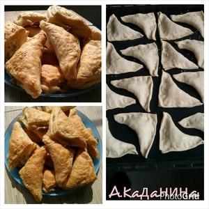 Рецепт Слойки с брынзой и кинзой