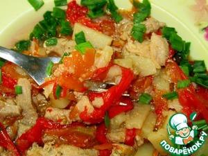 Рецепт Свинина, запечённая с овощами, в мультиварке