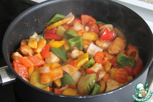 рецепт курица с овощами по тайски