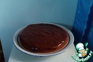 Рецепт Вишневый пирог с шоколадным кремом