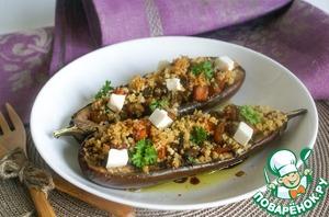 Рецепт Баклажаны, фаршированные картофелем и грибами