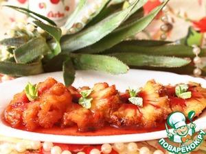 Рецепт Запеченный ананас в корице с конфитюром