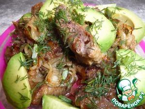 Рецепт Отбивные из говяжей печени с авокадо