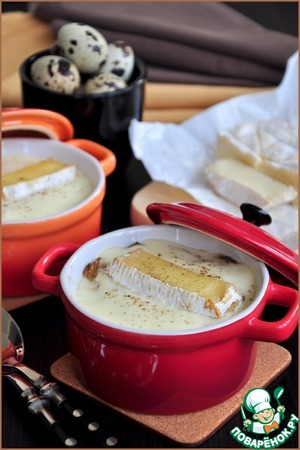 Рецепт Горячая закуска из грибов с сырным соусом