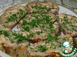 Рецепт Мясной рулет с сыром и грибами