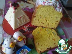 Рецепт Пасхальный кулич заварной в хлебопечке